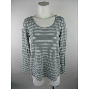Gap Rayon Long Sleeve Luxe Striped Scoop Knit Top